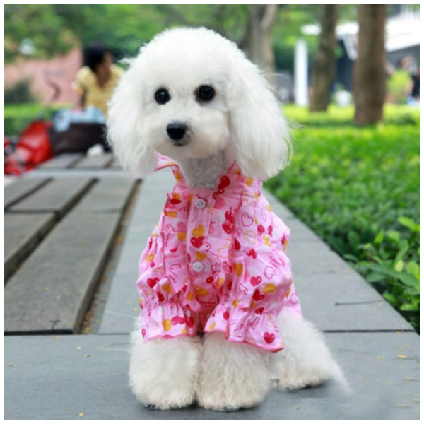 Eternal Love Puffy Flared Shirt for Dog Fashion & Apparel Pet Clothing SIZE 8-Color Yellow
