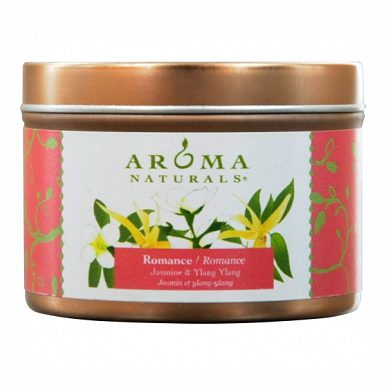 ROMANCE AROMATHERAPY by Romance Aromatherapy ONE 2.5x1.75 inch TIN SOY AROMATHERAPY CANDLE. COMBINES THE ESSENTIAL OILS OF YLANG YLANG & JASMINE TO CREATE PASSION AND ROMANCE. BURNS APPROX. 15 HRS.