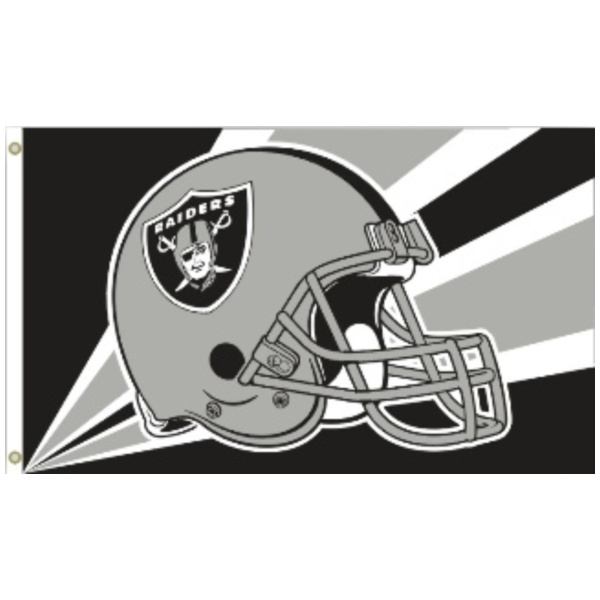 3 Ft. X 5 Ft. Flag With Grommetts Oakland Raiders - 94202B