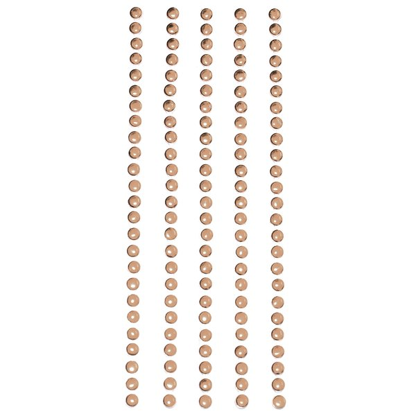 Product Image: Metal Stickers Nailheads 3mm Round 125 Per Package-Brass