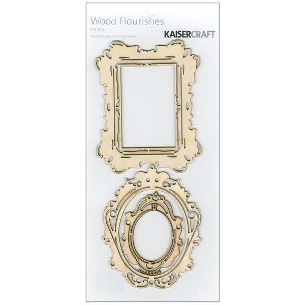 Product Image: Wood Flourishes 3 Per Package-Frames
