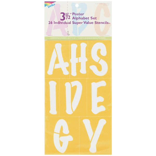 "Product Image: Stencil Mania Stencils 7""X20"" 2 Per Package-Block Alphabet 3.5"""