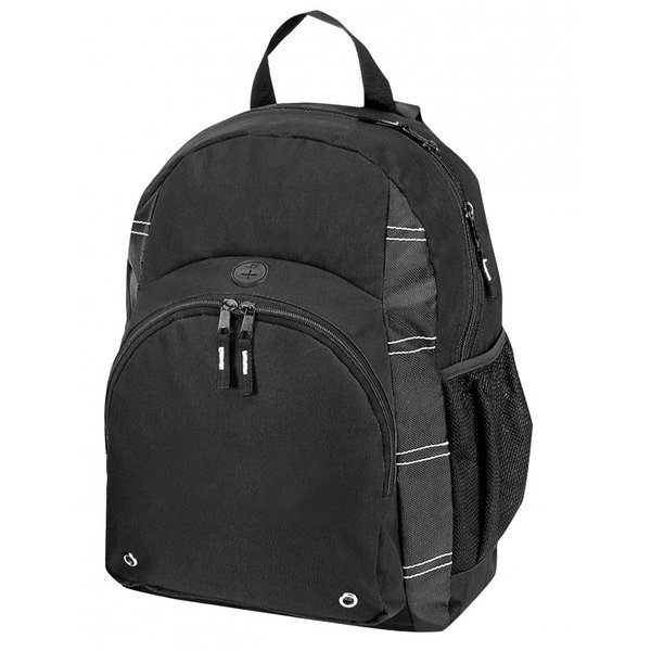 "Product Image: 11 1/2"" Poly Backpack - Black (Pack of 24)"