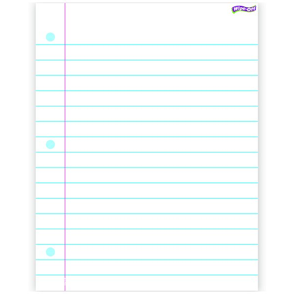 Notebook Paper Wipe off Chart 17x22