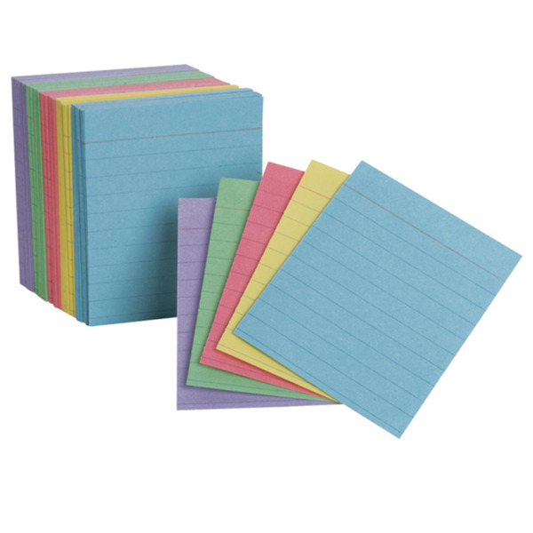 Oxfords Mini Index Cards Assorted