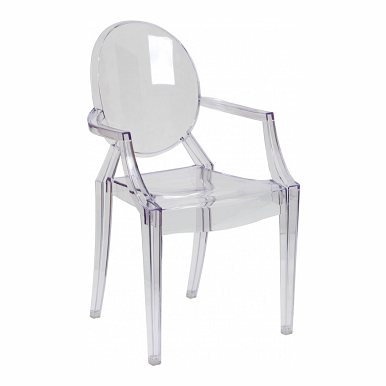 Ghost Chair with Arms in Transparent Crystal FH-124-APC-CLR-GG