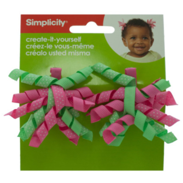 Simplicity 2 Piece Mini Green / Pink Korker Hair C (Pack of 18)