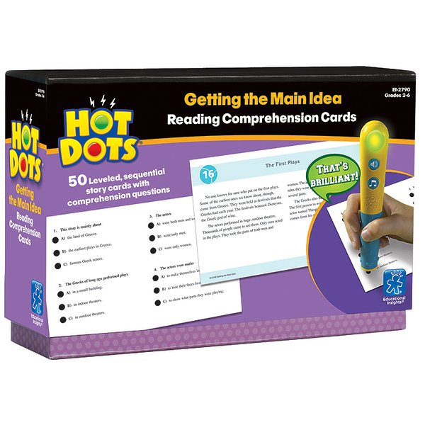 Hot Dots Reading Comprehension Kits