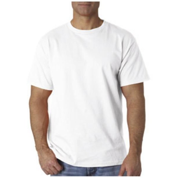 Men White T-Shirt Clothing (XL) (Pack of 24)
