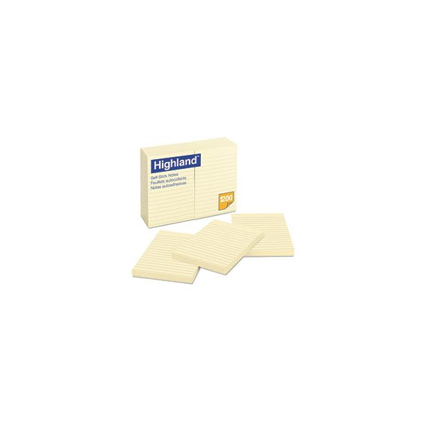 Self-Stick Notes, 4 X 6, Yellow, 100-Sheet