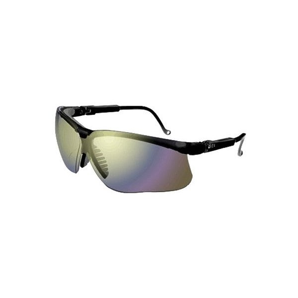 Product Image: Genesis Eyewear, Mirror Polycarbonate Hard Coat Lenses, Black Frame