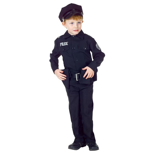 Policeman Set Child Costume As Shown Child L (10-12)