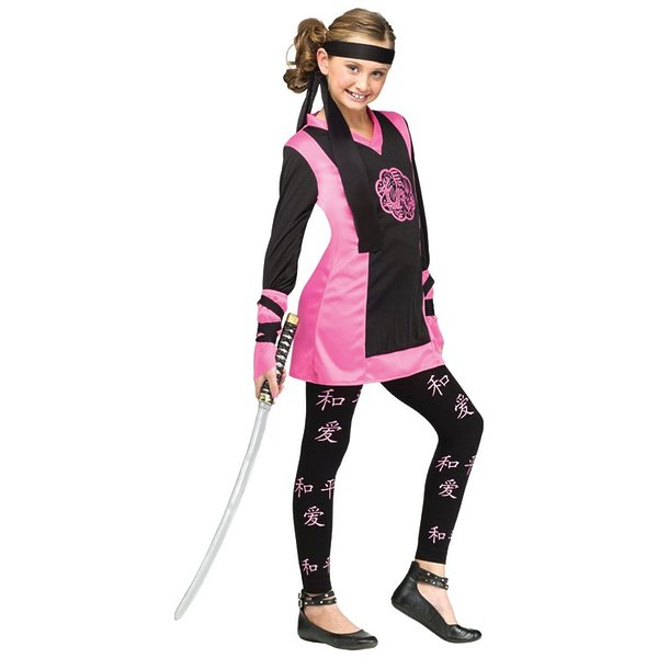 Dragon Ninja Girl Child Costume As Shown Child Small (4-6)