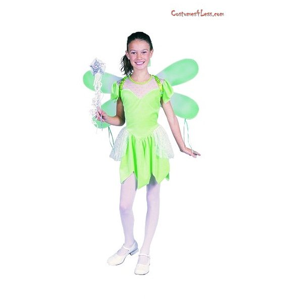 Girl Pixie Short Costume Green Girls S (4-6)