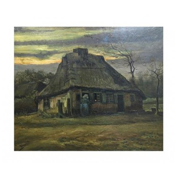 The Cottage Poster Print by Vincent Van Gogh (14 x 12)