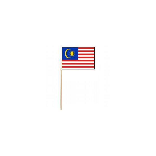 Malaysia Miniature Flag 12 in x 18 in Cotton