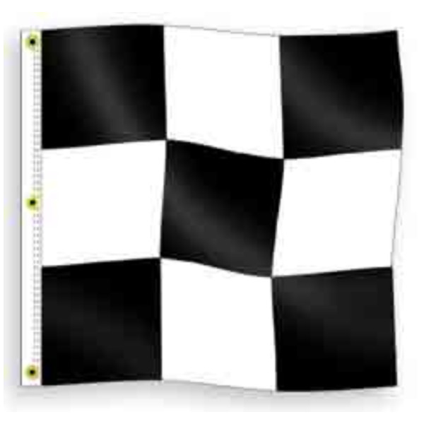 End of Race Checkered Flag 3 ft x 3 ft Nylon