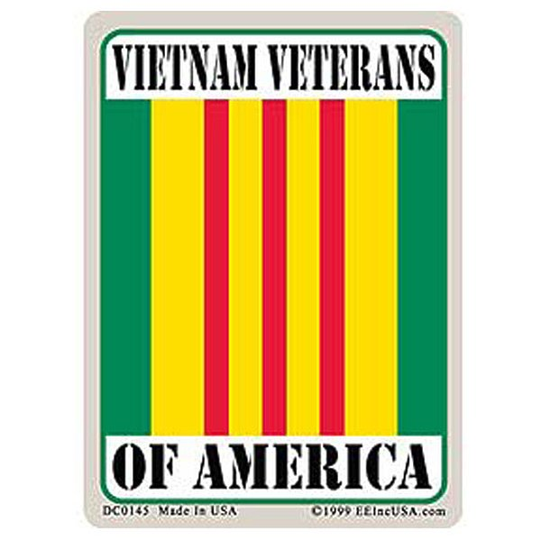 Vietnam Veterans Of America Sticker 2-3/4 x 4 in