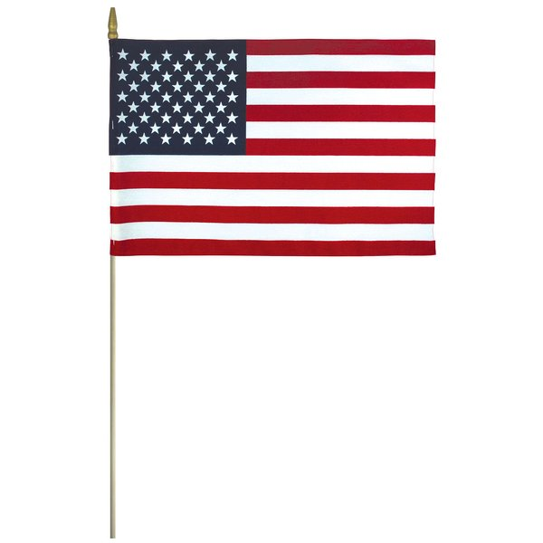 US miniature flag 8 in x 12 in Hemmed Poly-Cotton Flag