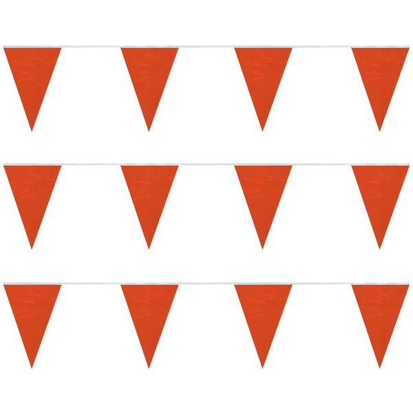 Orange String Pennants (60 ft) Plasticloth