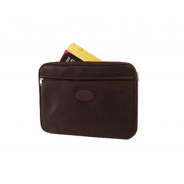 Product Image: Premium Mahogany Leather Look Briefcase Underarm Portfolio by